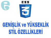 CSS Genişlik ve Yükseklik Stil Özellikleri