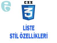 CSS Liste Stil Özellikleri